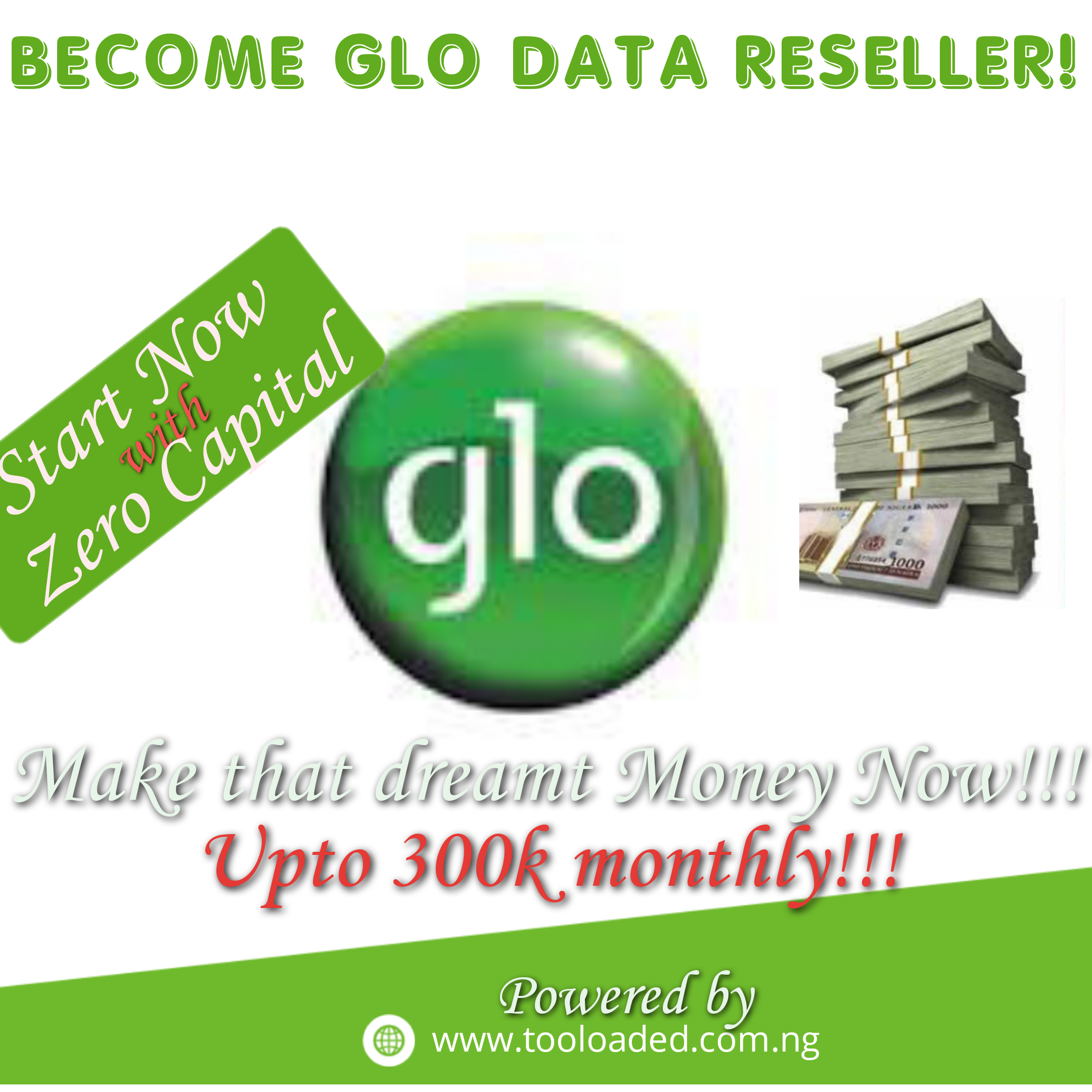 Become Glo Smart Data Reseller! Make up to 300k/month!!!